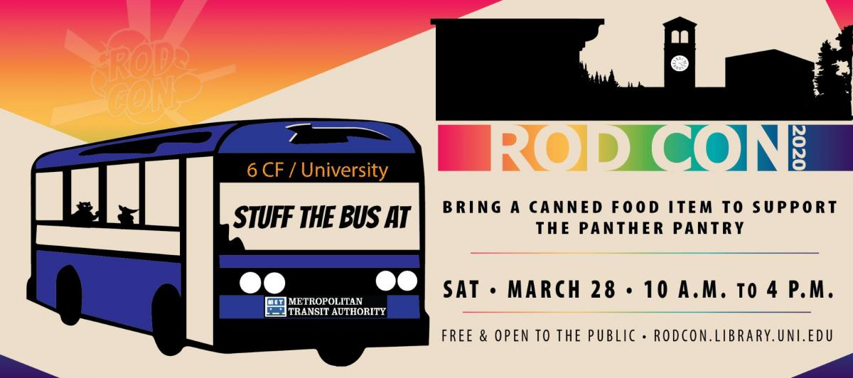 RodCon Stuff the Bus Panther Pantry Food drive